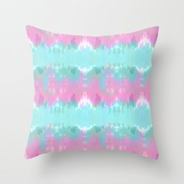Summer Vibes Tie Dye in Cotton Candy Throw Pillow