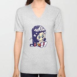 Movie Fan Popcorn Monster Unisex V-Neck