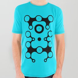 Lichtoglyphs - black on blue All Over Graphic Tee