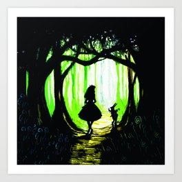 alice and rabbits Art Print
