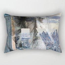 Old man in New York Rectangular Pillow