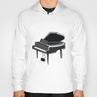 piano Hoodies featuring Piano by shopaholic chick