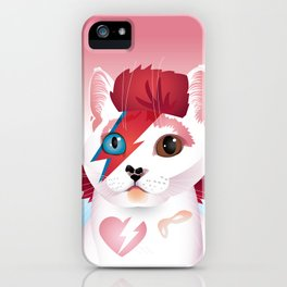 a cat insane iPhone Case