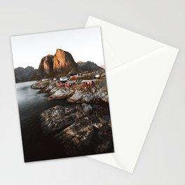 Fisherman Village, Lofoten Islands, Norway Stationery Cards