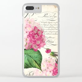 Hummingbird with hydrangea Clear iPhone Case