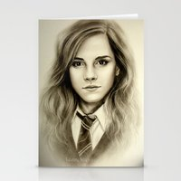 hermione Stationery Cards featuring Hermione  Emma Watson  by Yuliya  Talanova