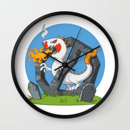 Cigarette - Monster spewing flames Wall Clock