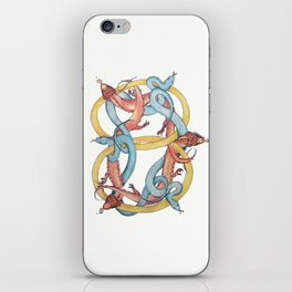 Dragons and Snakes Entwined Eternal iPhone Skin