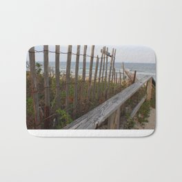 Sunset at Maine Beach Enterance Bath Mat