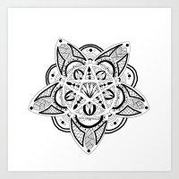 pentagram Art Prints featuring Pentagram by Captain Dibbzy