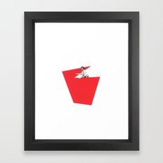 Black and White and Red All Over 4 Framed Art Print