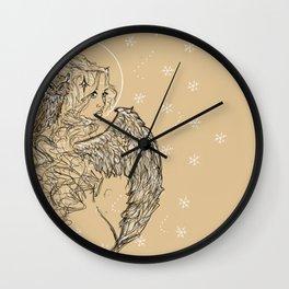 Winter Goddess Wall Clock