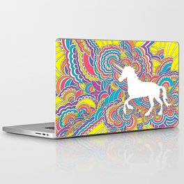 Unicorn Drawing Meditation (color) Laptop & iPad Skin
