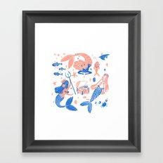 Ocean treasures Framed Art Print