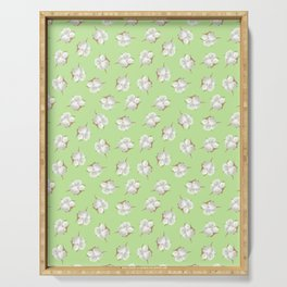 Cotton Blossom Toss in Key Lime Serving Tray