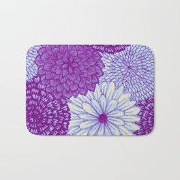 Watercolor Bouquet - Violet Bath Mat