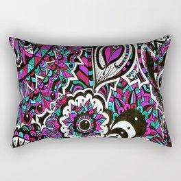 Colourful Mandala Elephant Rectangular Pillow