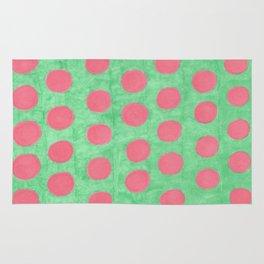 Pink and Green Polka Dots Rug