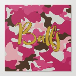 Pink Camouflage with Balls - Pink Camo Canvas Print