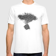 Floating Shrubbery Mens Fitted Tee SMALL White