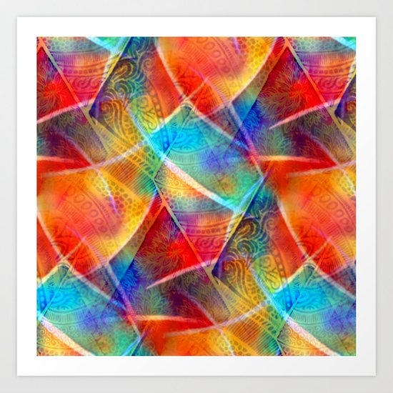 Boho Rainbow Art Print