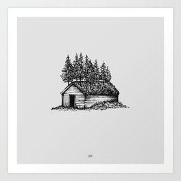 Shack & Trees Art Print