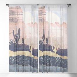 Autumn Desert Sheer Curtain