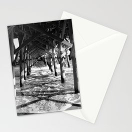 Under the Boardwalk B&W Stationery Cards