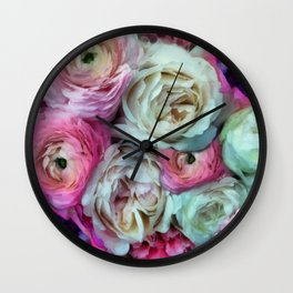 Romantic flowers I Wall Clock