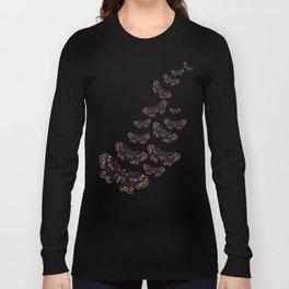 Authentic Aboriginal Art - Butterflies Long Sleeve T-shirt