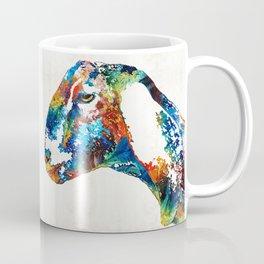 Colorful Goat Art By Sharon Cummings Coffee Mug