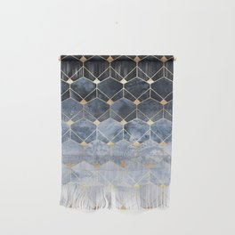 Blue Hexagons And Diamonds Wall Hanging