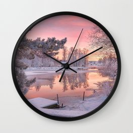 WINTER SCENE-3118/1 Wall Clock