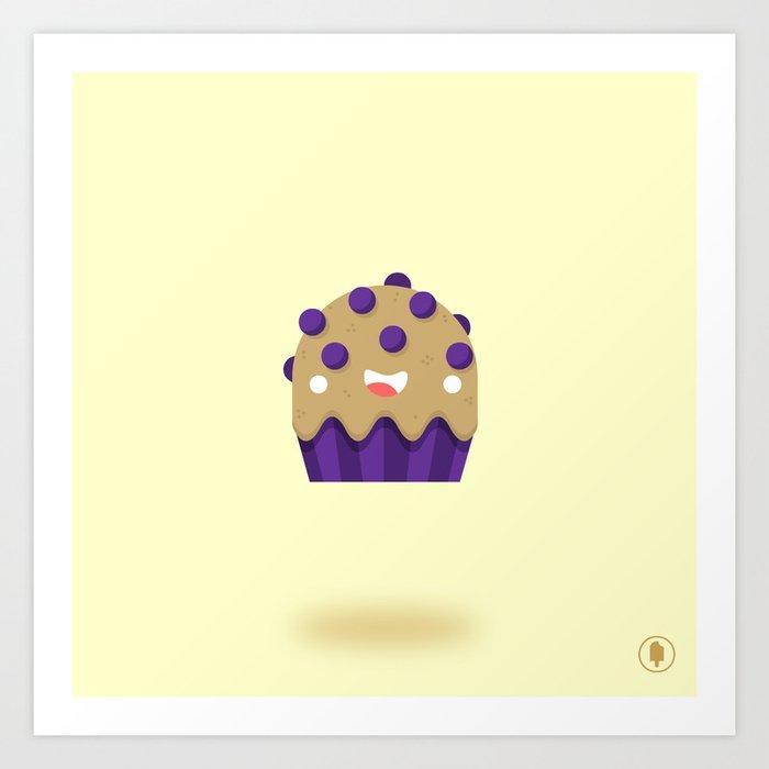 Boo-berry Muffin Art Print