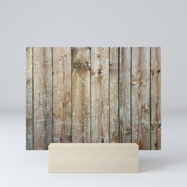 Rustic Wooden Plank Texture Mini Art Print