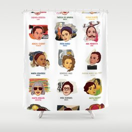 A Brief Guide to 20th Century Latina Artists Shower Curtain