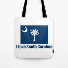 flag of south carolina – I love south Carolina Tote Bag