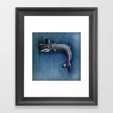 Dandy Whale Framed Art Print