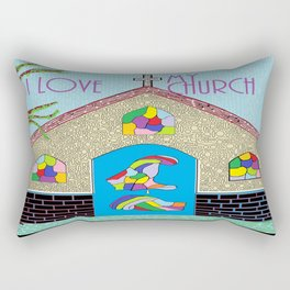 ASL I Love my Church Rectangular Pillow