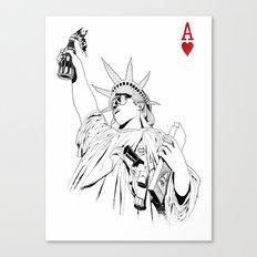 freedom...black & white Canvas Print