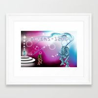aliens Framed Art Prints featuring aliens by amanvel