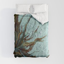 Cotton Boll on Wood Comforters