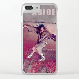 Duder Zen - The Big Lebowski Clear iPhone Case
