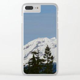 Snow on the Diamond Head Clear iPhone Case