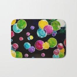 Rainbow bubbles Bath Mat