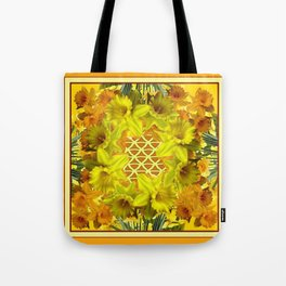 VIGNETTE OF YELLOW SPRING DAFFODILS GARDEN Tote Bag