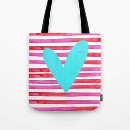 Soulmates Lines and Hearts Tote Bag