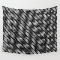 herringbone Wall Tapestries featuring Herringbone by Sharon H.