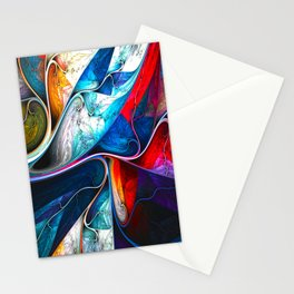 Abstract veins Stationery Cards