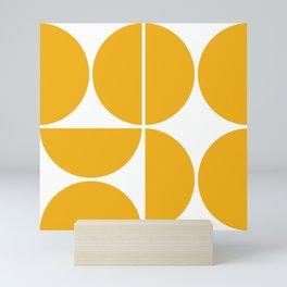 Mid Century Modern Yellow Square Mini Art Print